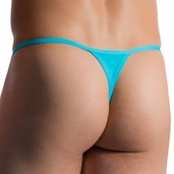 M764 Stripper Thong - Azure