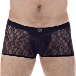 Mystique Hipster Push Up Boxer - Black