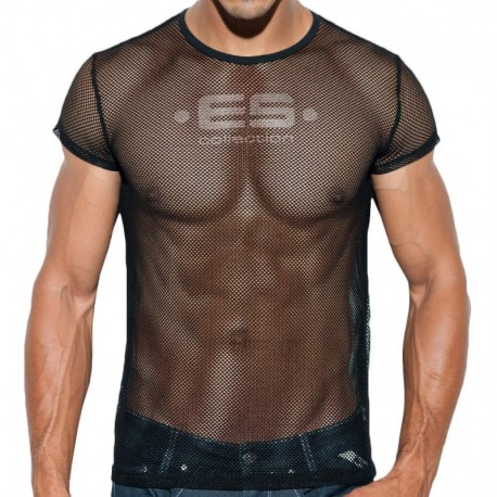 ES Collection T-Shirt Basic Mesh Noir