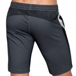 Metallic Mesh Short - Black - Silver