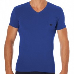 Shiny Logo Band T-Shirt - Ultramarine