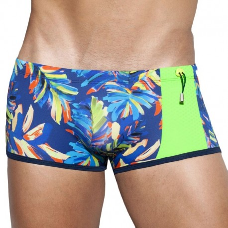 ES Collection Boxer de Bain Paul Leaf Marine