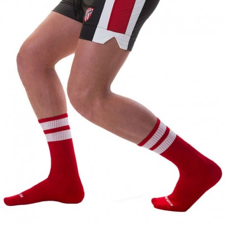 Barcode Gym Socks - Red