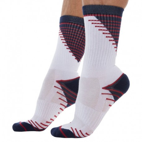 DIM 2-Pack X-Temp Sport Socks - Navy - White