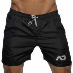 Long Basic Swim Short - Black