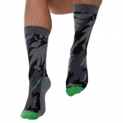 Chaussettes Camouflage Gris
