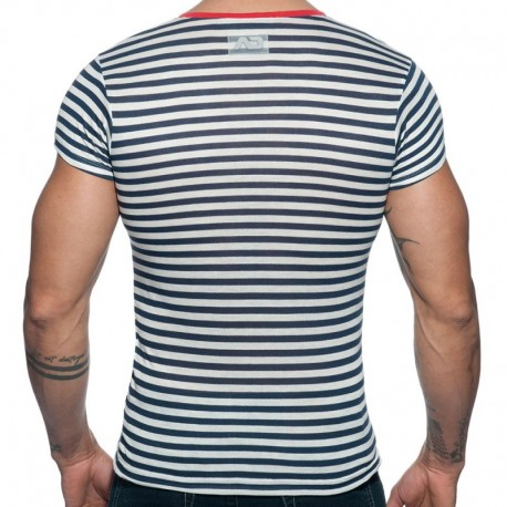 Addicted T-Shirt Sailor Marinière - Rouge