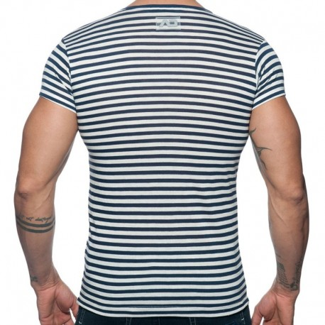 Addicted T-Shirt Sailor Marinière - Marine