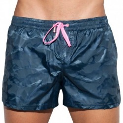 Elliot Camo Swim Short - Navy