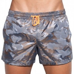 Elliot Camo Swim Short - Brown