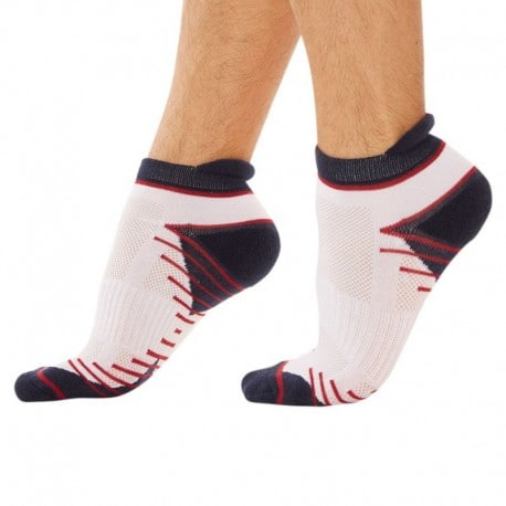 DIM 2-Pack X-Temp Sport Bobby Socks - Navy - White
