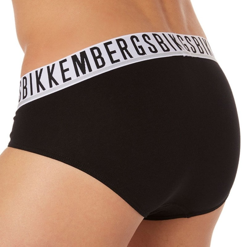 Bikkembergs Lot de 2 Slips Stretch Cotton Noirs