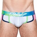 ES Collection Slip Prismas Waistband Blanc