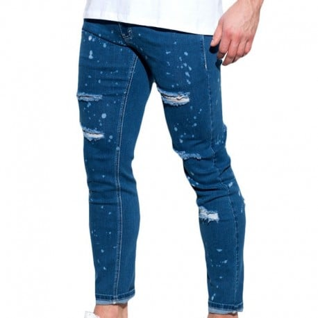 ES Collection Ripped Jean Pants - Navy