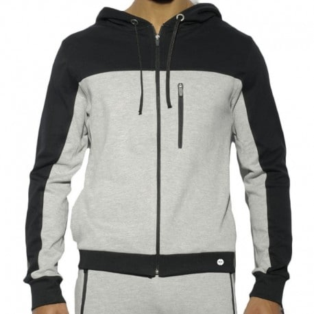 ES Collection Hoody Combi Pique Gris