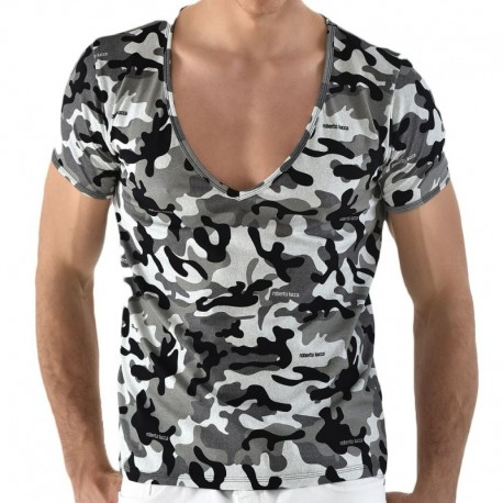 Roberto Lucca V-Neck T-Shirt - Camouflage