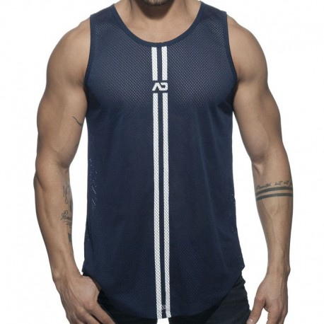 Addicted Double Stripe Tank Top - Navy