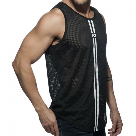 Addicted Double Stripe Tank Top - Black