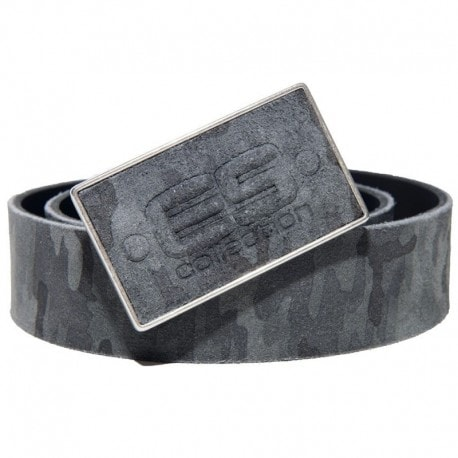 ES Collection Ceinture en Cuir Camouflage Gris