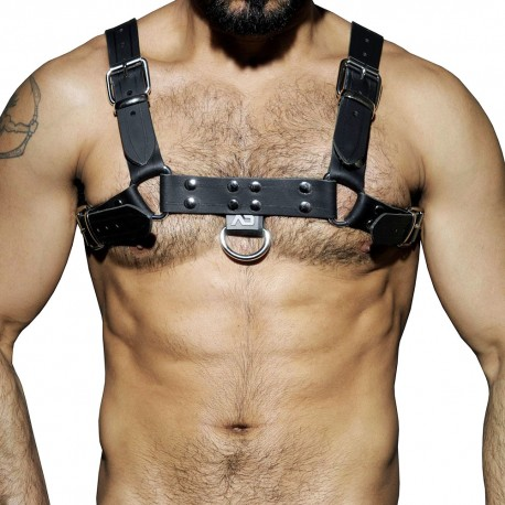 AD Fetish Leather Harness - Black