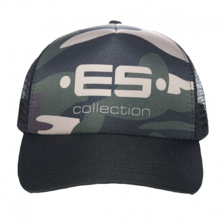 ES Collection Casquette Baseball Print Logo Camouflage