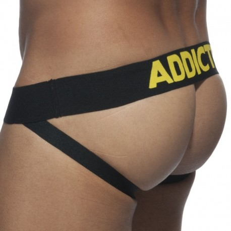 Addicted Basic Colors Jock Strap - Yellow - Black