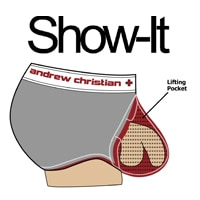 Show-It Boxer CoolFlex Modal Active Show-It Rouge